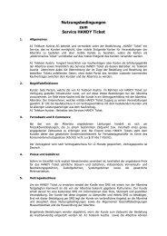 Nutzungsbedingungen zum Service HANDY Ticket - Albertina