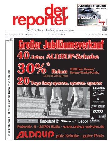der reporter - Das Familienwochenblatt für Eutin und Malente 2012 KW 25