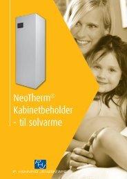 NeoTherm® Kabinetbeholder - til solvarme - P. Henning Jensen ApS