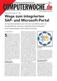 Wege zum integrierten SAP- und Microsoft-Portal