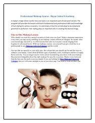Professional Makeup Course Mayur Salon N Academy