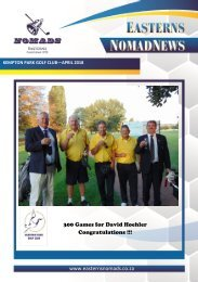 Easterns Nomads Monthly Magazine - Kempton Park - April 2018