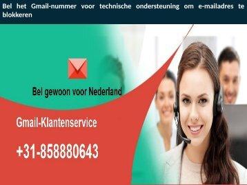 Bel het Gmail-nummer voor technische ondersteuning om e-mailadres te blokkeren