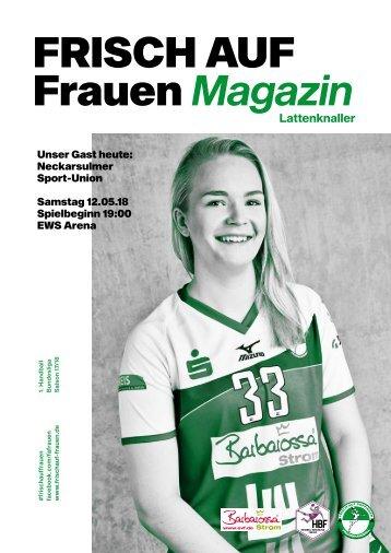 """Ausgabe 13 - Saison 2017/2018 - FRISCH AUF Frauen Magazin """"LATTENKNALLER"""""""