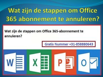 Wat zijn de stappen om Office 365 abonnement te annuleren