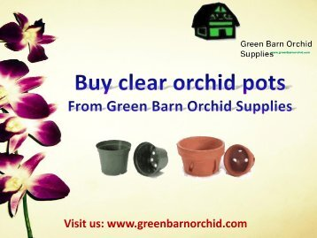 Shop clear orchid pots at a best price from Green Barn Orchid Supplies, USA