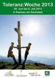 """Toleranz:Woche 2013 in Ramsau am Dachstein – """"Grenzen kennen"""
