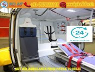 Get Air Ambulance Service from Patna to Delhi with Paramedical Team