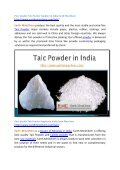 Pure Quality Talc Powder Supplier in India Earth MineChem - Page 2