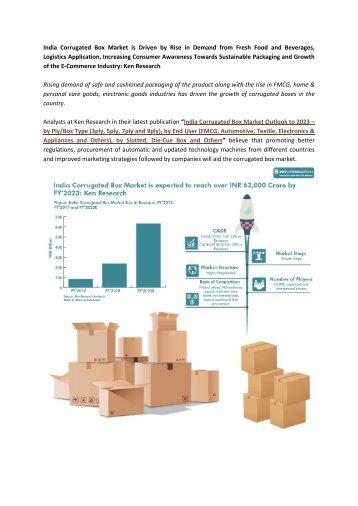 Corrugated Packaging Market, Corrugated Box Market, India Corrugated Box Market Size-Ken Research