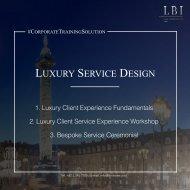 LBI Corporate Training Solution: Luxury Service Design