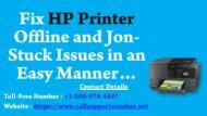 Fix HP Printer Offline and Jon-Stuck Issues in an Easy Manner