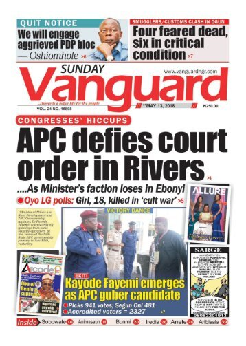 13052018 - APC defies court order in Rivers