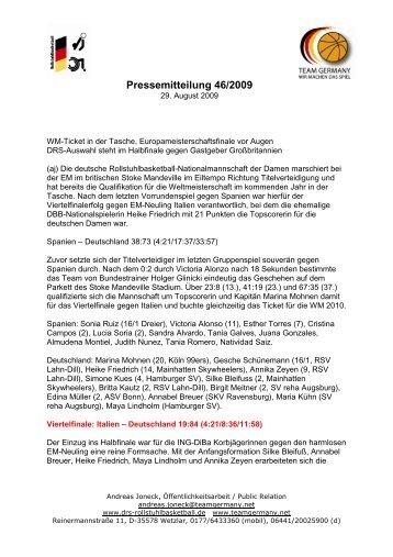 Pressemitteilung 46/2009