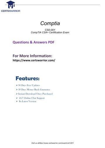 CS0-001 Free PDF Demo 2018