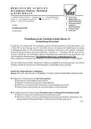 Praktikum in der Fachoberschule Klasse 11  - Berufliche Schulen ...