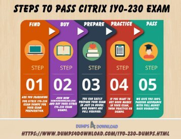Pass CITRIX 1Y0-230 exam | 1Y0-230 Braindumps | Dumps4Download