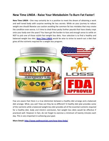 New Time LINDA - Get Desired Body Figure Naturally!