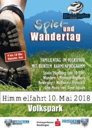 TSG Handball Spiel und Wandertag -  Eishockey Präsentation 2018 Black Eagleas