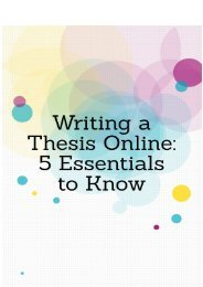 Writing a Thesis Online: 5 Essentials to Know