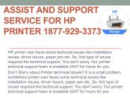 Assist and support service for HP Printer 1877-929-3373