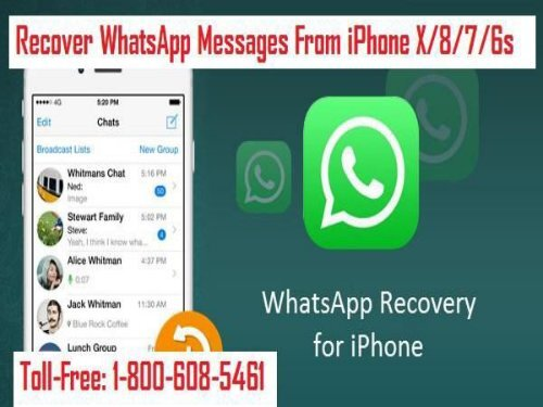 Dial 1-800-608-5461 To Recover WhatsApp Messages From iPhone