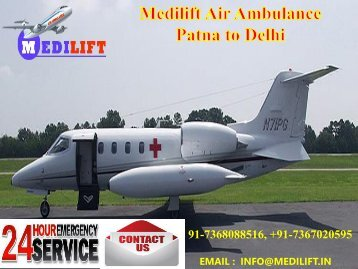 Hair Low-Fare and Reliable Medical Air Ambulance Raipur to Delhi