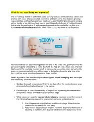 What do you need baby wet wipes for?