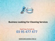 Business Looking For Cleaning Services