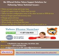 Online Yahoo Mail Support Number 1877-503-0107