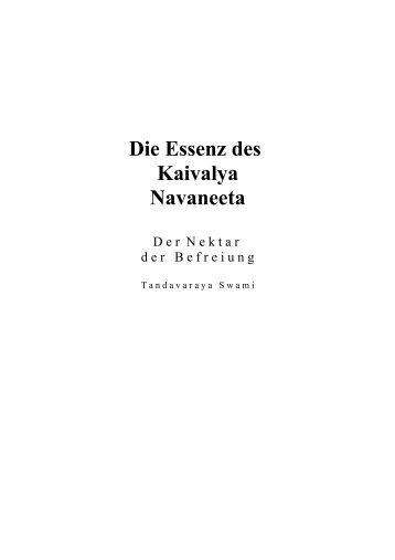 Die Essenz des Kaivalya Navaneeta