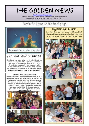 THE GOLDEN NEWS. Nº 21. 2017/2018