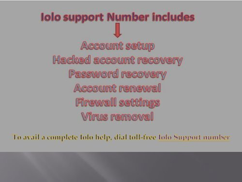 Iolo Support Number +1-844-210-3666 (Toll-Free)