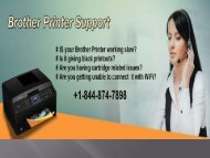 Brother Printer Support Number +1-844-874-7898 (Toll-Free)
