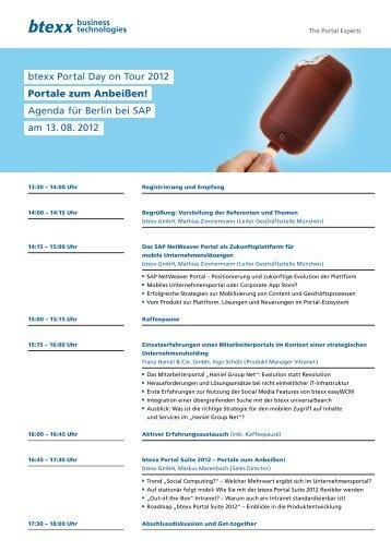 btexx Portal Day on Tour 2012 Portale zum Anbeißen ... - btexx GmbH