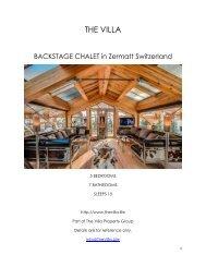 Backstage Chalet - Zermatt Switzerland