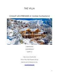 Chalet Les Etrennes - Verbier Switzerland