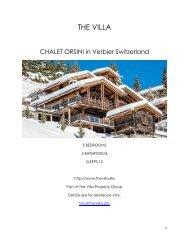 Chalet Orsini - Verbier Switzerland
