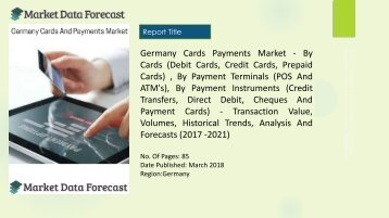 Germany Cards And Payments Market Share and industry report by 2022