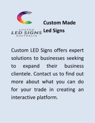 Led Display Signs - Customled Signs