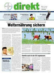 Welternährung sichern - am Standort Brunsbüttel - Bayer