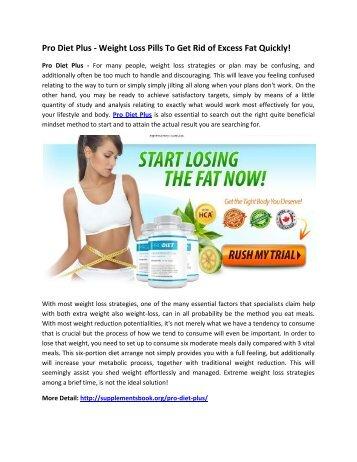 Pro Diet Plus - Burn Fat & Suppress Your Appetite Naturally!