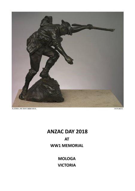 Anzac Day 2018 Mologa Program