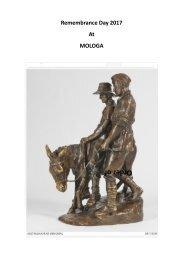 Remembrance Day 2017 Mologa Program