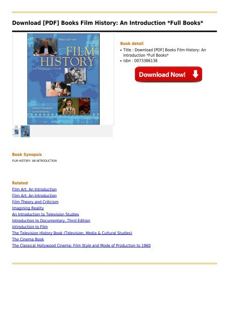 Film History An Introduction