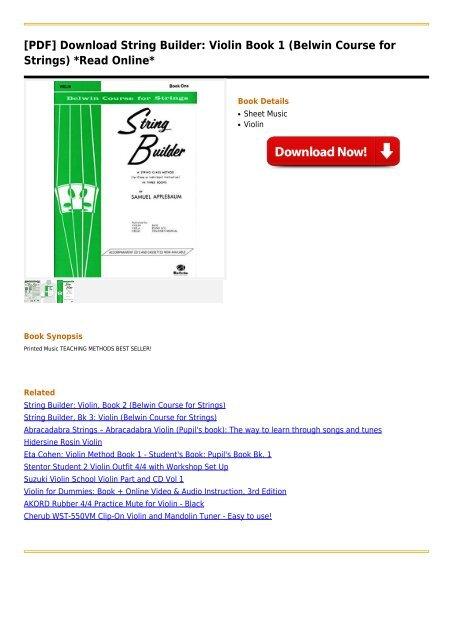 String-Builder-Violin-Book-1-Belwin