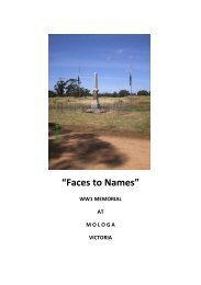 Faces to Names - Mologa & District Landcare Group