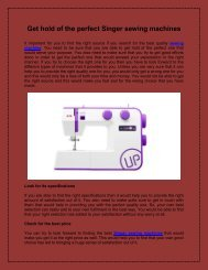 Get hold of the perfect Singer sewing machines