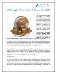 Shipping Software Market Research Report forecast 2018 to 2026