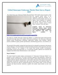 Sinuscopes Endoscope Market Research Report forecast 2018 to 2026